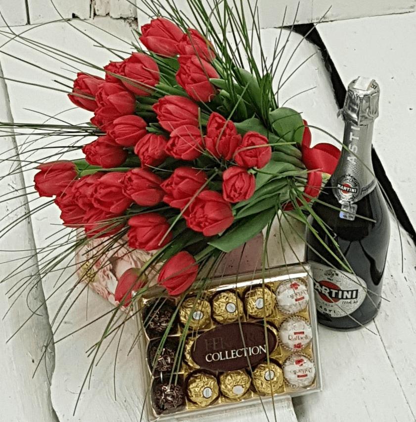 Sarkanas tulpes (25 gab.)